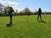 North Devon Holiday Cottage Swing ball on the sports and games lawn