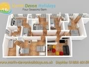 North Devon Holiday Cottage Four Seasons Barn